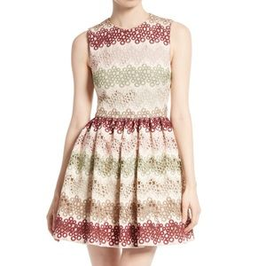 Alice & Olivia jacquard dress